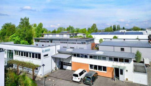 Gebäude k-tech Drohnenbild von oben