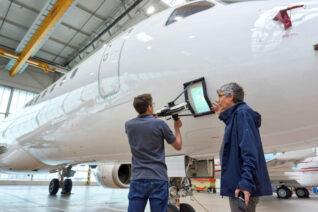 Luft- und Raumfahrt Inspektion 3D-Scanner Sicherheit Serienprodukt Prüfsystem