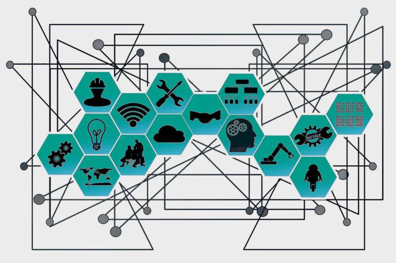 Industrie 4.0 Digitale Transformation Grafik Modelldarstellung