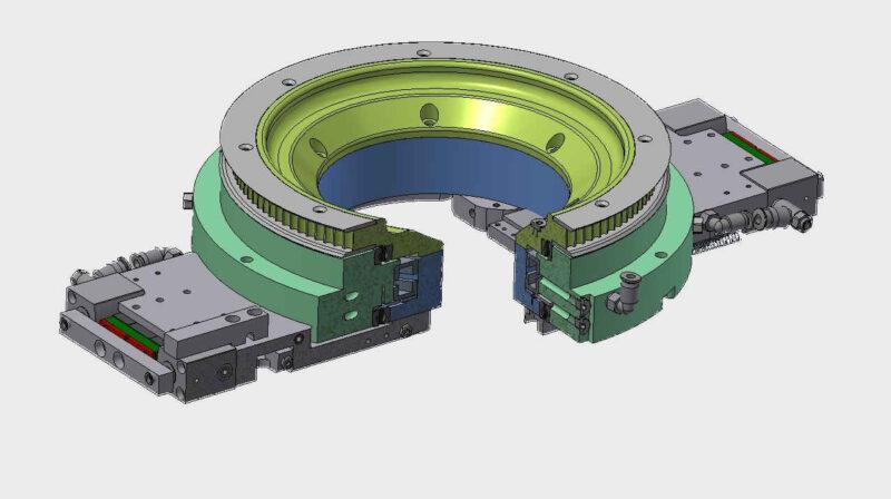 Konstruktion Darstellung ungerendert Drehdurchführung Modell Entwurf Inventor AutoCAD SolidWorks
