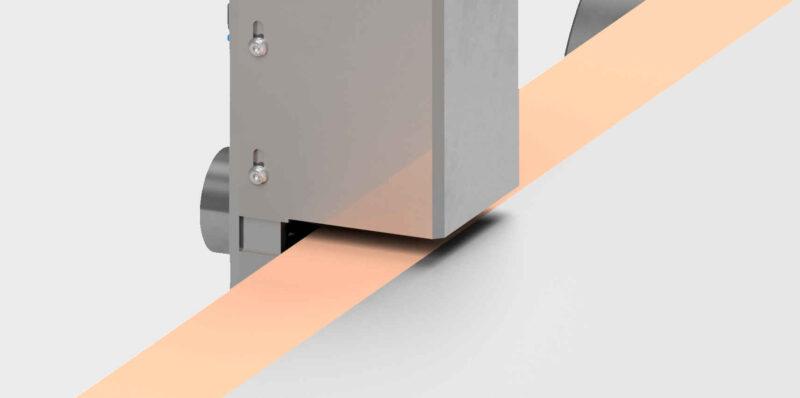 Reinraumtechnik Bahnkantenreinigung ESD Elektrostatik Verunreinigung Entfernen Sauberkeit Ionisierungen Düsen Gebläse Konzept