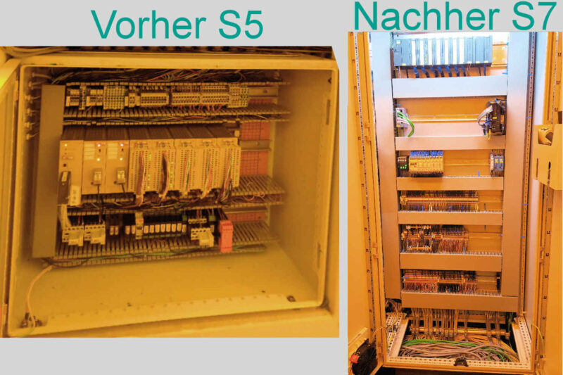 Retrofit S5 zu S7 Austausch und Aktualisierung Elektrik Steuerungssysteme Erweiterung Anlage Schaltschrankfertigung