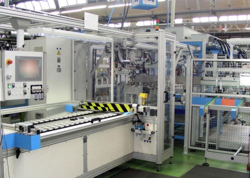 Sondermaschine Transferanlage Sicherheitstechnik Qualitätsprüfung Weiterleitung Produkt