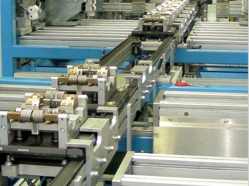 Transportsystem Anlage Beförderung Fördersystem Werkstückträger Förderband
