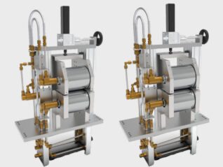 Walzanlage Serie Darstellung gerendert Transportsystem Vorrichtungsbau