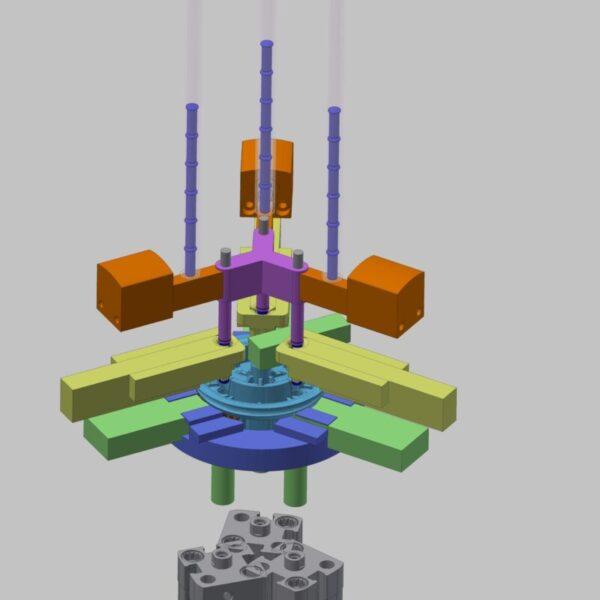 Konzept Getriebemontage Darstellung ungerendert Konzeptmodell Studie Vorplanung